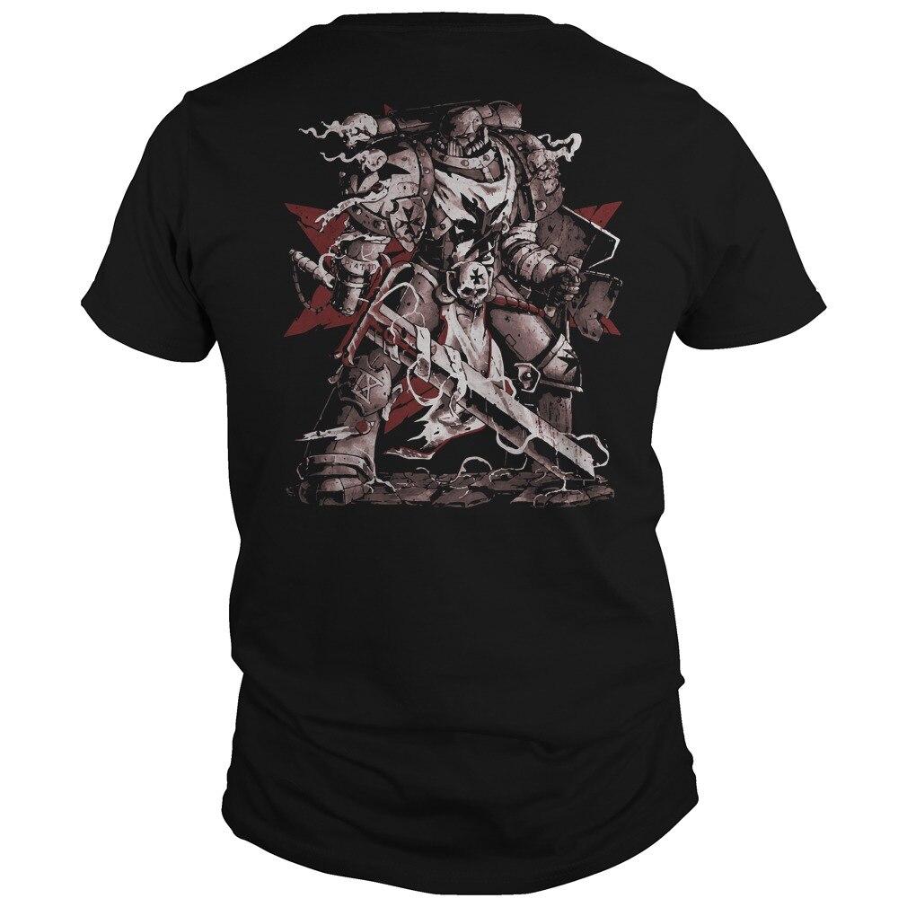 Warhammer negro Templarios los hombres camiseta de