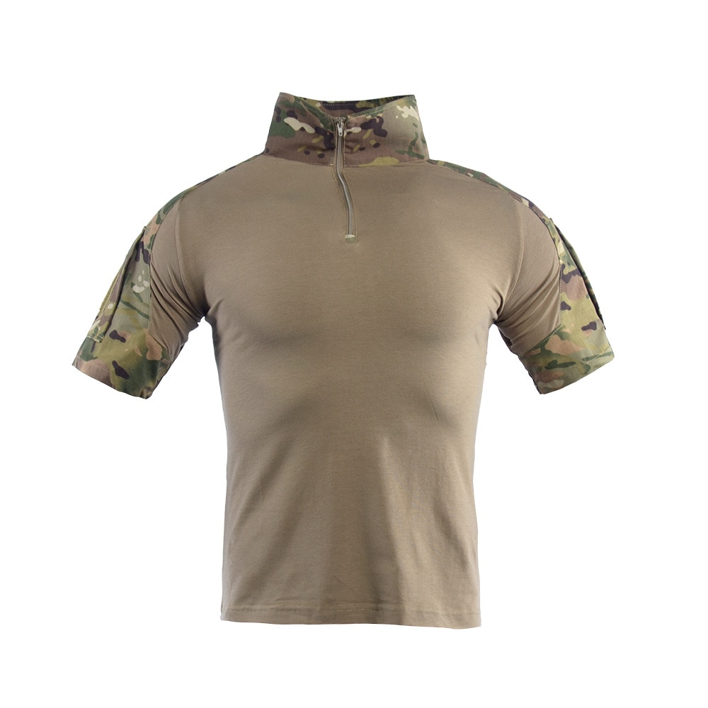 Male Military Uniform Tactical Short Sleeve Tshirt Men Camouflage Army Combat Shirt Airsoft Paintball Clothes Multicam Shirt Top