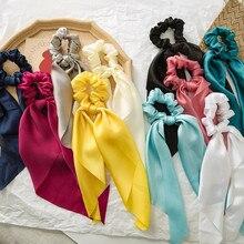 Женский головной убор-тюрбан, резинки для волос «сделай сам», Однотонные резинки для волос «конский хвост», Летний стиль