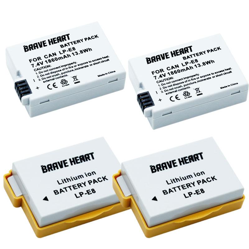 7,4 v 1860mah bateria LP E8 LP-E8 LPE8 batería para Canon EOS...