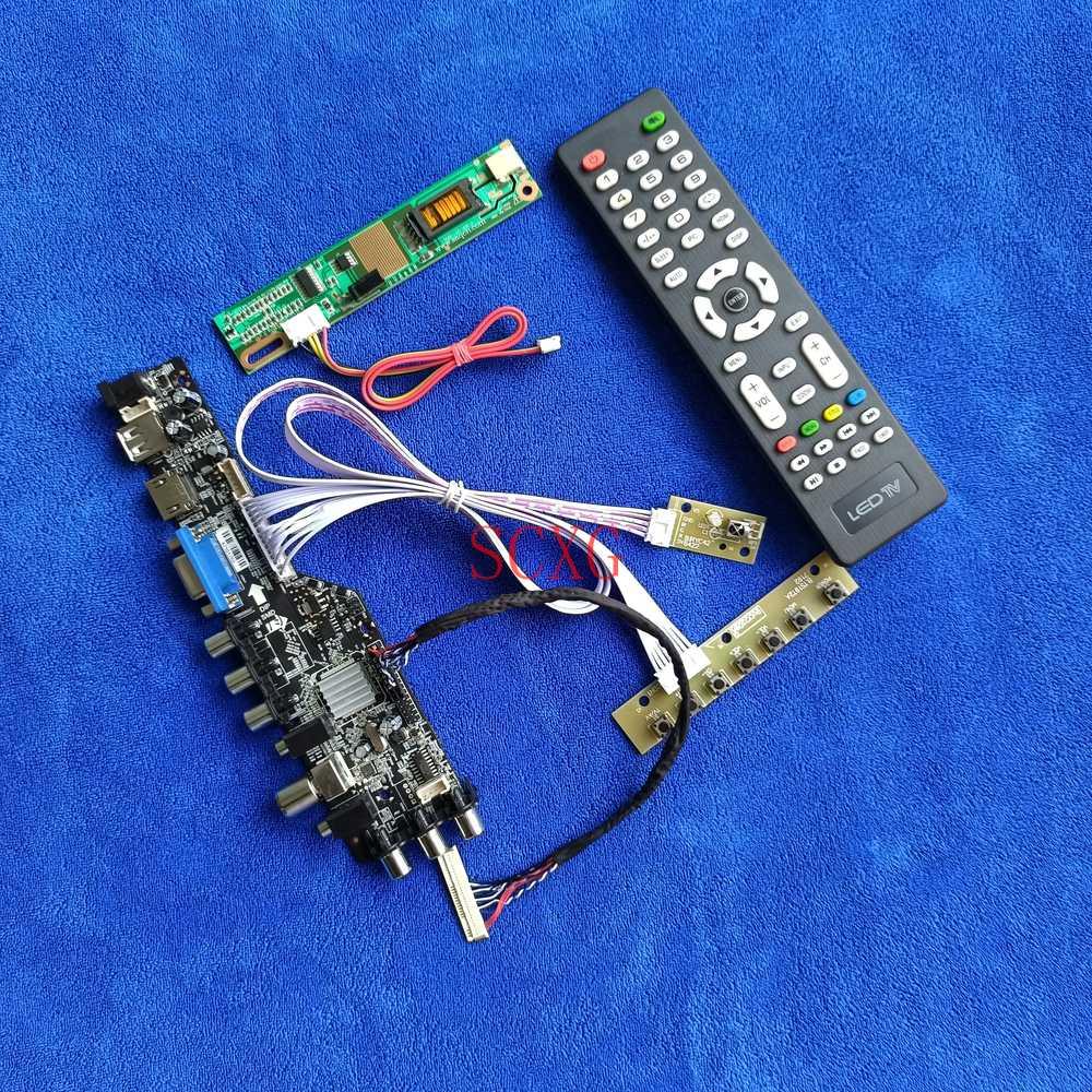 شاشة الكريستال السائل محرك المجلس ل LTN141W1/LTN141W3-L01 1-CCFL USB VGA HDMI-متوافق الرقمية إشارة DVB 30 دبوس LVDS لتقوم بها بنفسك عدة 1280*800