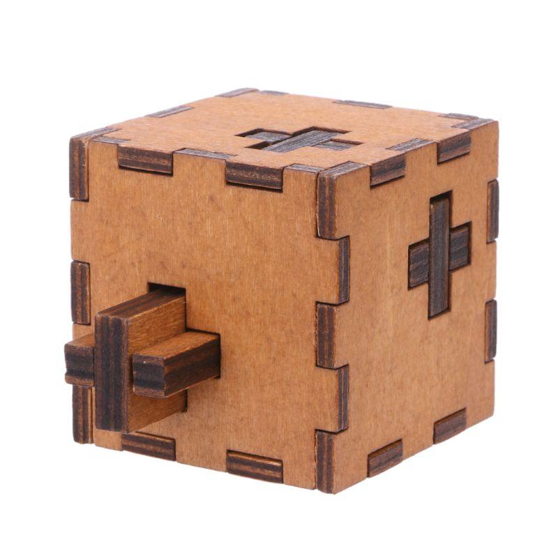Nieuwe Zwitserse Cube Houten Secret Puzzel Doos Houten Speelgoed Brain Teaser Speelgoed Kind Brain Test Uitdaging Speelgoed/Houten Ambachten