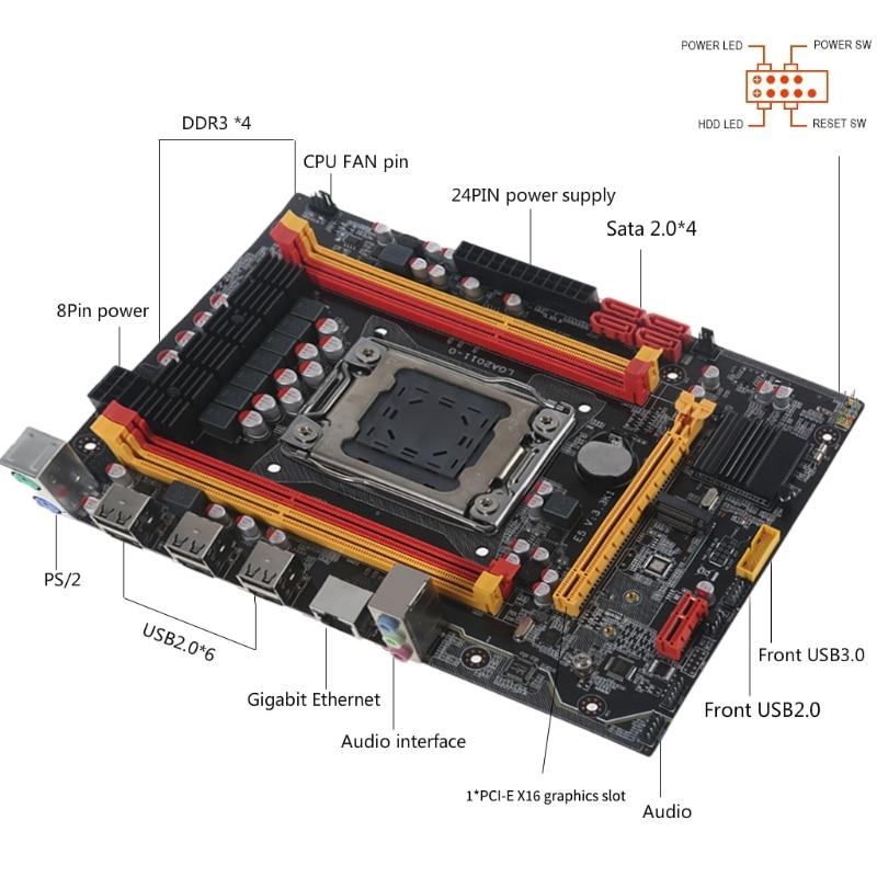 X79-3.3K Base Plate LGA 2011 PCI-E NVME M.2 SSD Support REG ECC Memory Xeon E5 enlarge
