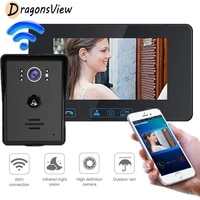 dragonsview wifi door intercom 7 inch touch screen wireless video phone 720p doorbell camera for home security system