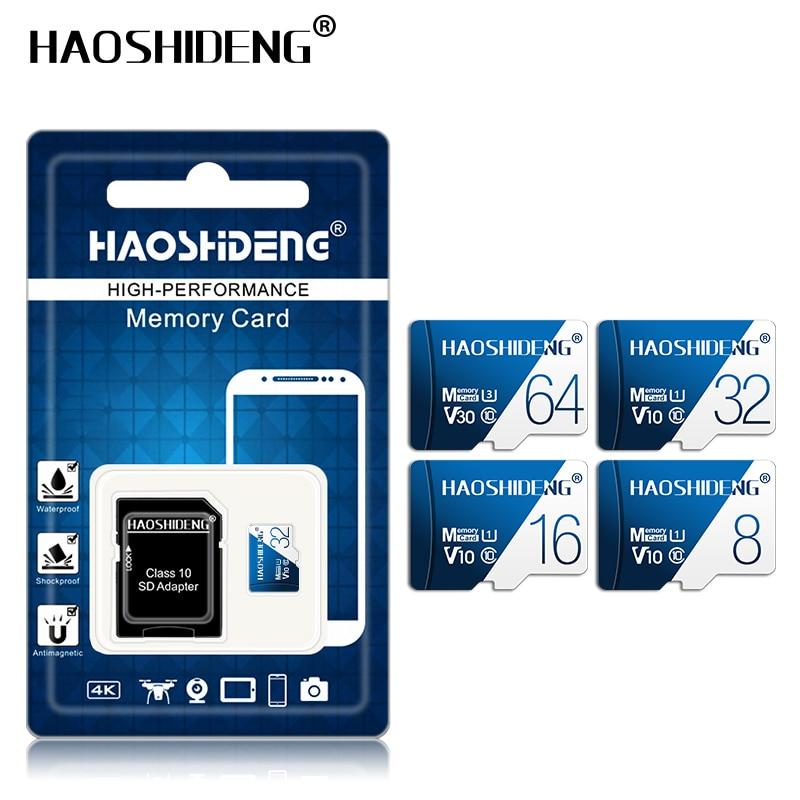 50pcs SDHC carte sd micro sd Tarjeta SD 16GB carte mémoire classe 10 micro sd 32gb 64gb SDXC cartao de mémoire adaptateur cadeau