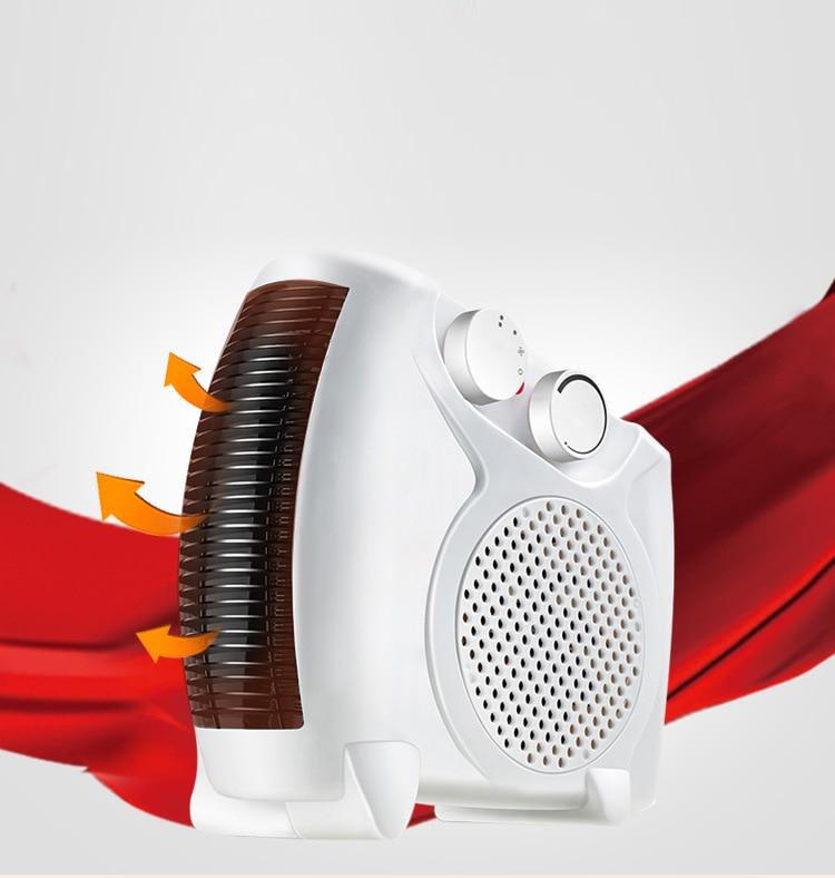 Free Shipping Mini Heater Fan 3 Gear Adjustment Pure Copper Motor Fireproof Material Intelligent Temp Control