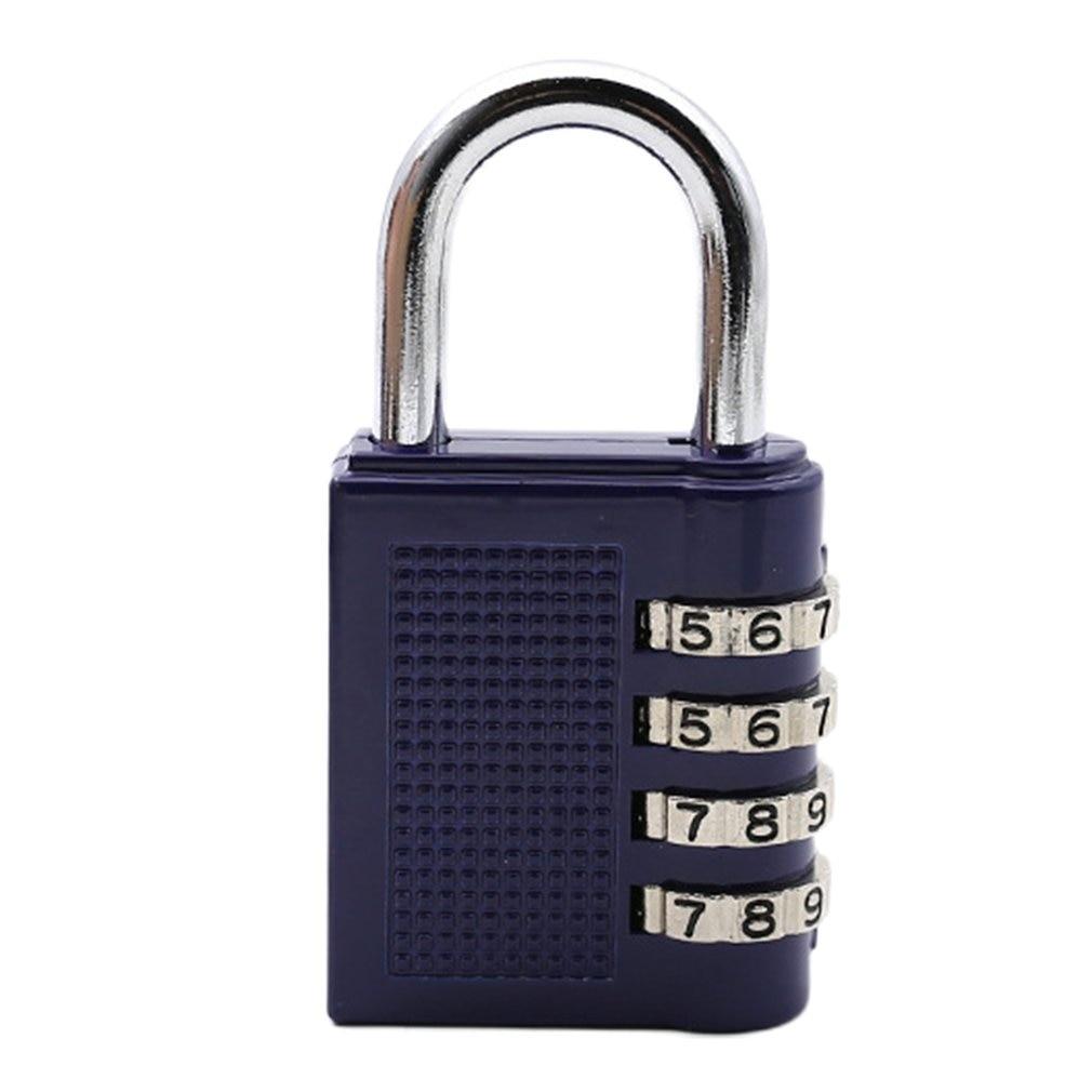 Swimming Pool Gym 4 Zinc Alloy Code Lock Industrial Password Padlock Zinc Alloy Luggage Lock Us214