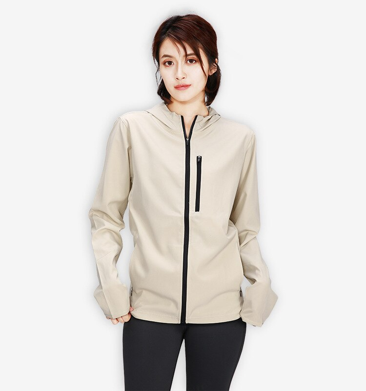 2019 nuevo invierno otoño mujer abrigo de manga larga chaqueta deportiva Casual para gimnasio ciclismo deportes correr trotar Tennis abrigos con cremallera