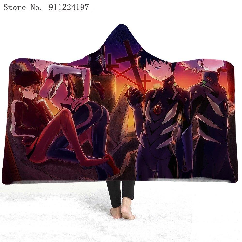 Anime Skyhawk Warrior 3D Print Funny Wearable Hooded Blanket Full Print Wearable Blanket For Adults Kids Windproof And Warm
