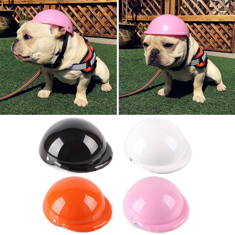 Behogar, 4 pulgadas, lindo Kawaii ABS, disfraces de mascotas, tapa protectora de seguridad, gorro para casco para cachorro de peluche, Pug Totoro gato, caniche, Dobermann