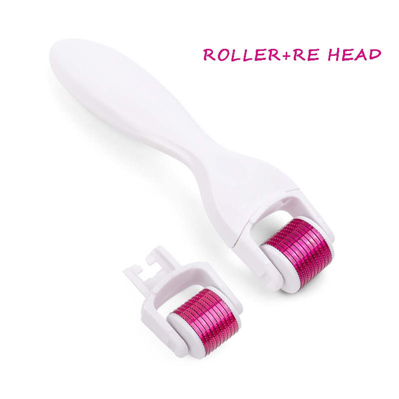 Replaceable Roller Heads Derma Roller Cosmetic Needling Instrument for face,600 Titanium Micro Needle Microdermabrasion Roller enlarge