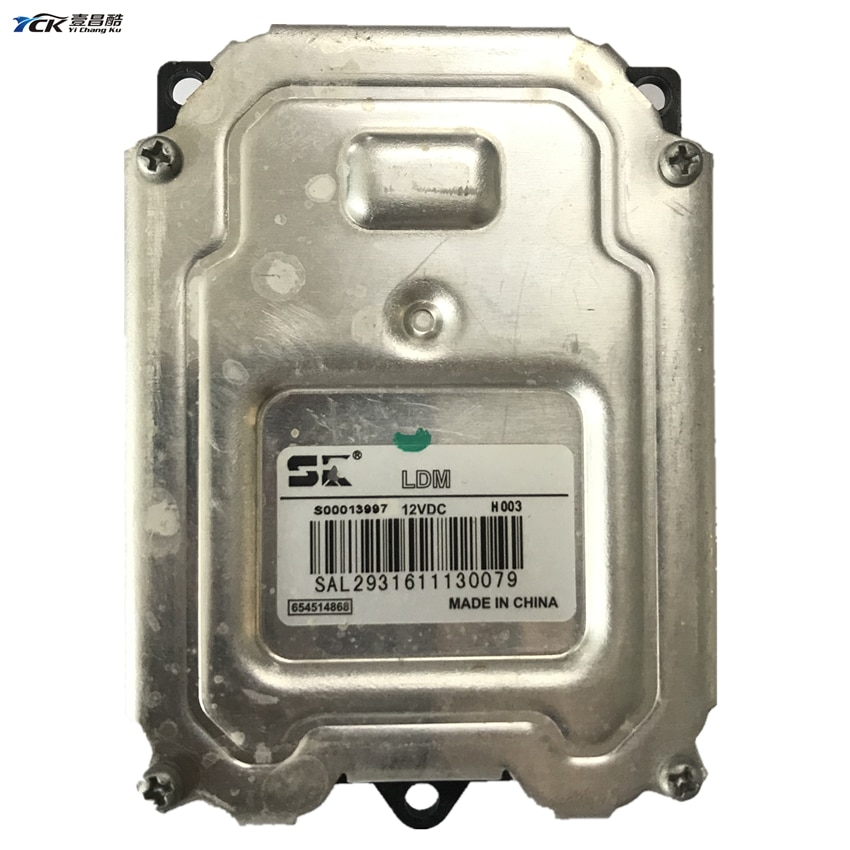 1X YCK Original S00013997 12VDC H003 faro de coche Módulo de Controlador LED usado 654514868 accesorios de luz de coche
