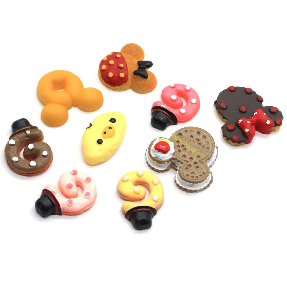 Cute Mix Style comida de resina miniatura Flatback cabujón para Scrapbookings Diy artesanía casa de muñecas Decoración