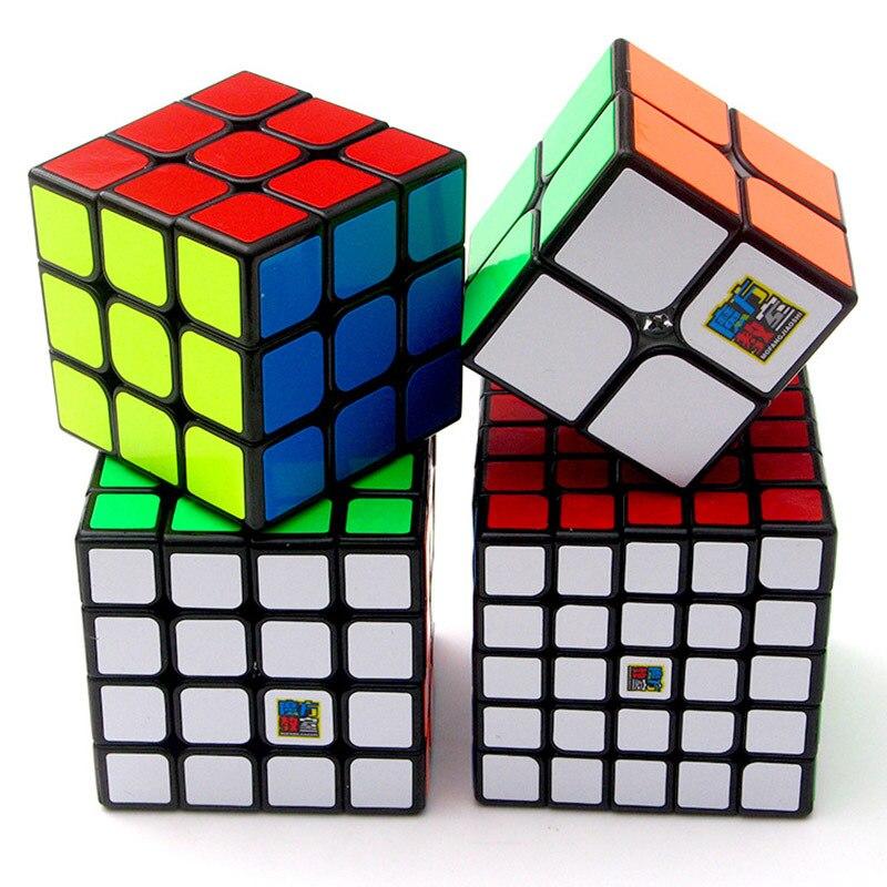 MOYU magia dragones 2X2X2 / 3X3X3 / 4X4X4 / 5X5X5 magia velocidad cubos Combo conjunto Color sólido caja de cubos para regalar niños rompecabezas Juguetes
