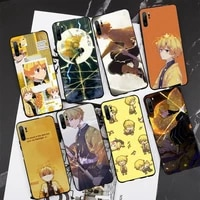 demon slayer agatsuma zenitsu phone case for redmi note 5 5a 7 6 8 8t 9 10 4 6 9 10 s pro max fundas cover