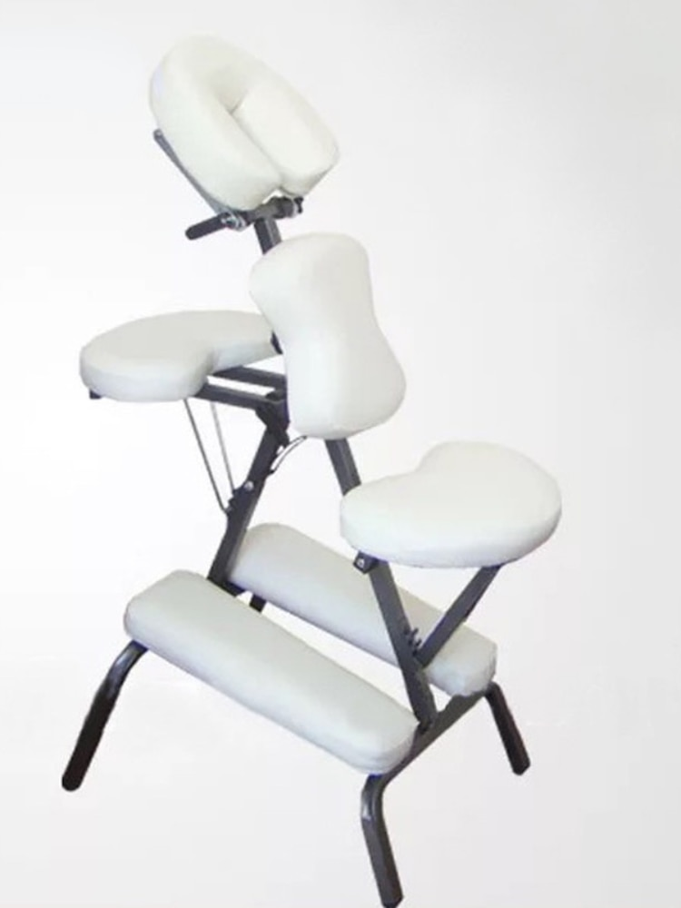 Muebles para SPA de belleza... silla plegable y de cuero de metal rojo blanco tatuaje de s mesa de cama