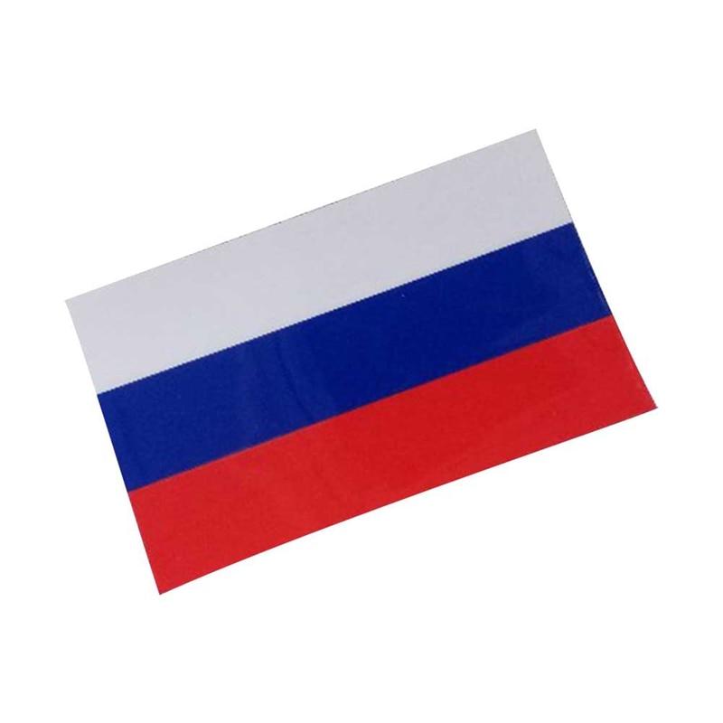 Etiqueta engomada del coche del cuerpo de la personalidad de 10cm * 6cm Etiqueta de bandera del animal doméstico de Rusia