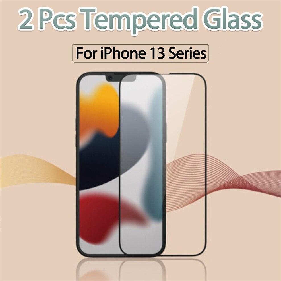2 шт стекло, 9d стекло на iPhone-13 стекло защитное очки айфон 13про макс стекло для iPhone13 Mini Apple 13Pro Max glass iPhone 13 Pro Max защитное стекло айфон 13 мини айфон...