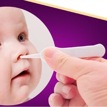 1PC Infant Safe Clean Ear Nose Navel Tweezers, Safety ABS Plastic Baby Ear Nose Navel Cleaning Force