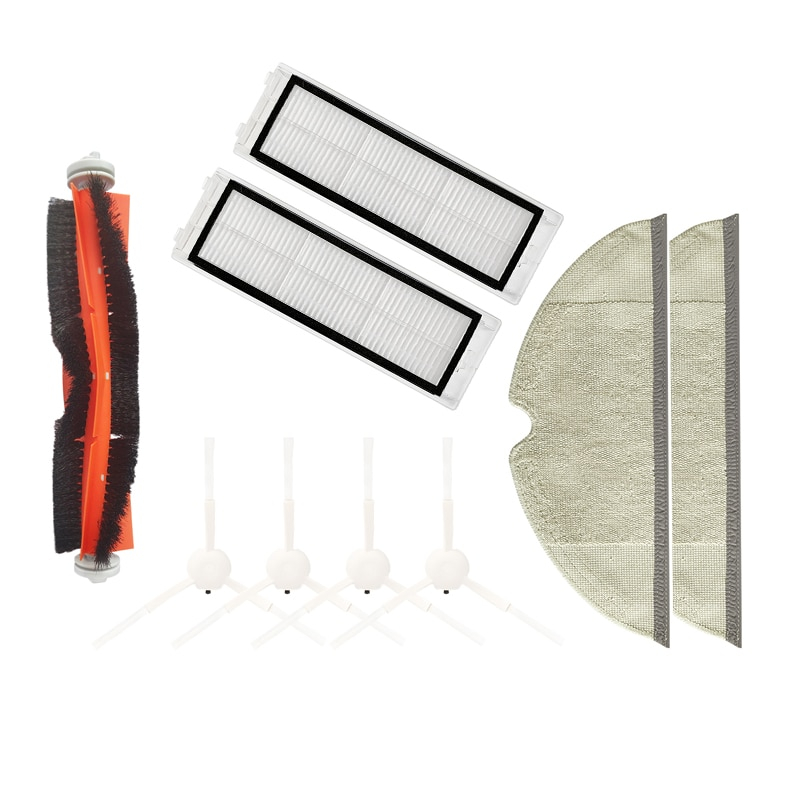 1pcs sweeping robot accessories roller brush for ecovacs dt85 dt83 dm81 dd35 vacuum cleaner parts Brush Kit Roller Side Main/Side Brush /Filter /Mop for Xiaomi Mijia 1C Sweeping Robot Vacuum Cleaner Parts Sweeper Accessories