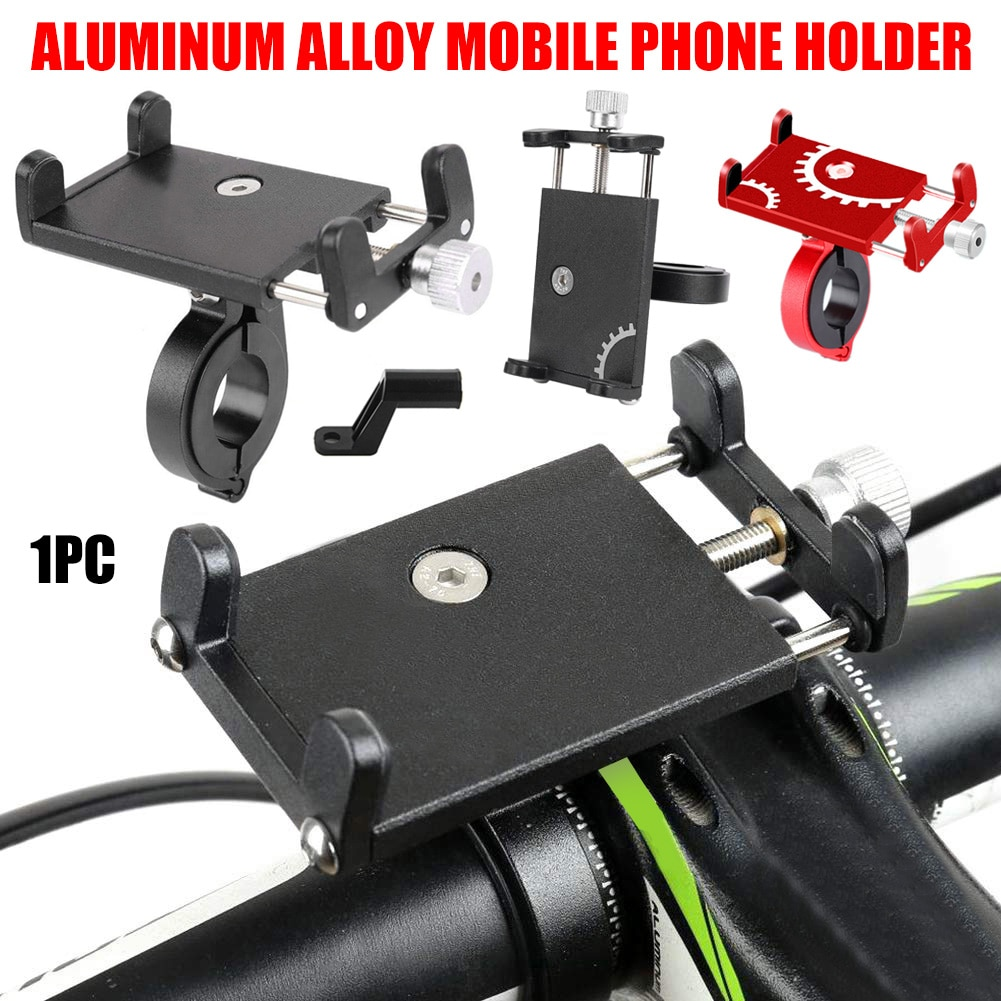 Hot Aluminum Alloy Bicycle Mobile Phone Holder Mountain Bike Mount Road Bike Motorcycle Mobile GPS Holder Cycling Rack D