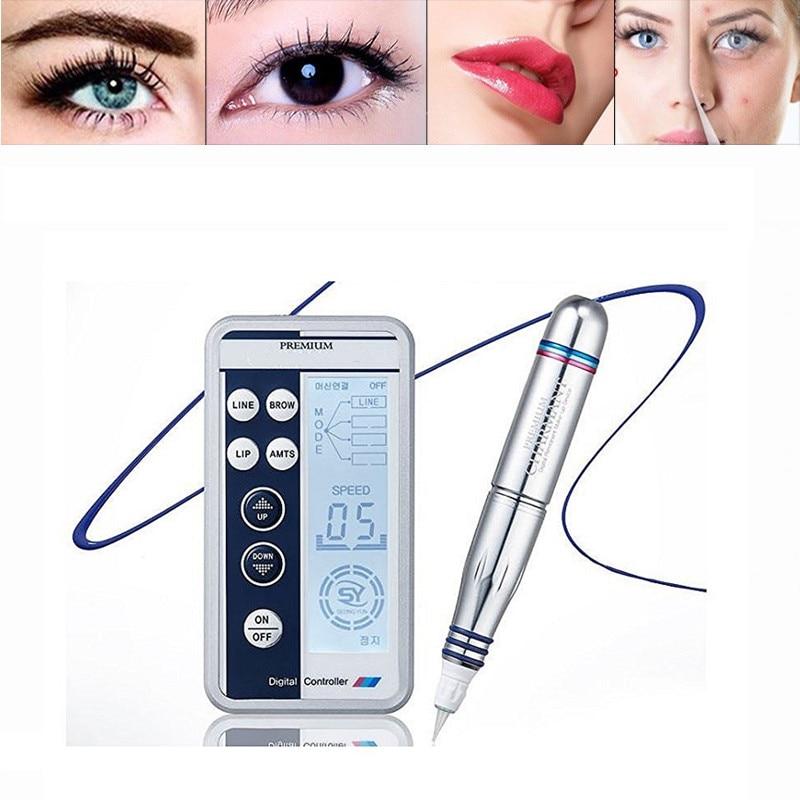 Панель управления татуажная машина для бровей MTS 3D Ручка для микроблейдинга Перманентный макияж ручка машина набор Eyeline косметика для губ У...
