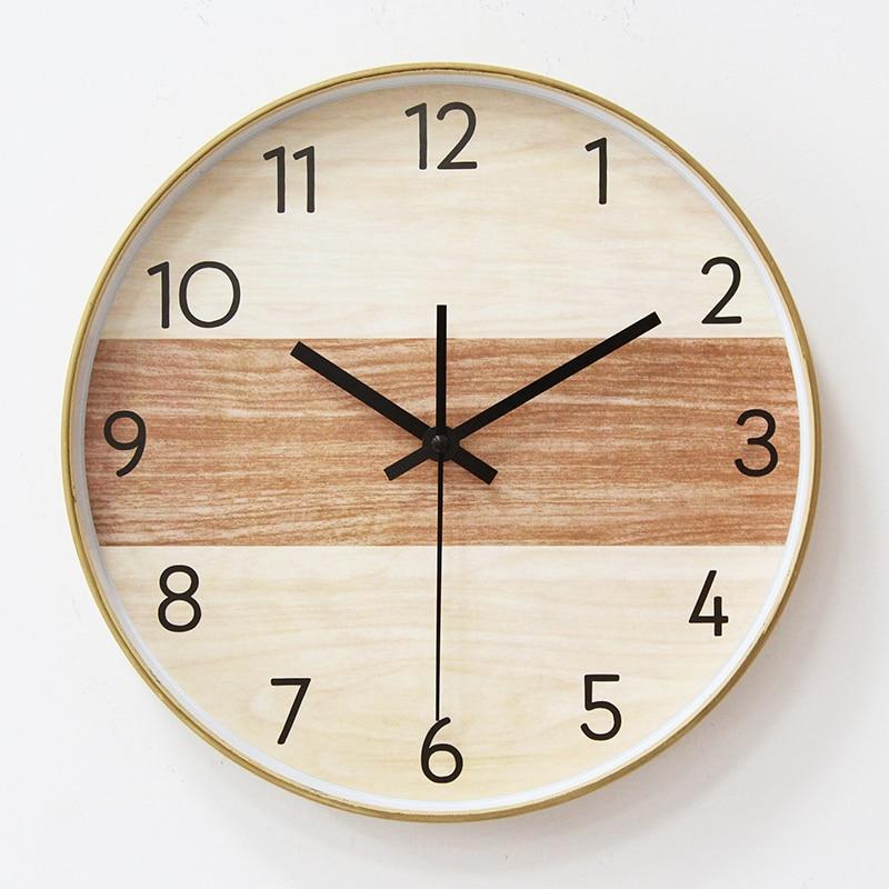 Nordic Silent Wall Clock Minimalist Living Room American Wall Clock Creative Orologi Parete Round Klok Home Decor OO50WC