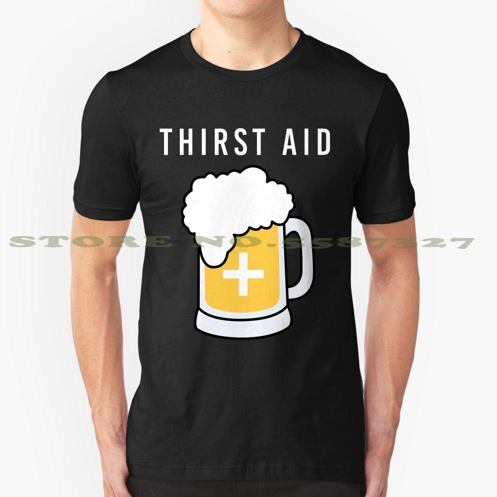 Durst ajuda preto branco tshirt para homens mulher sede primeiros socorros cerveja amante cerveja bebedor idéias presente engraçado bebedor bêbado