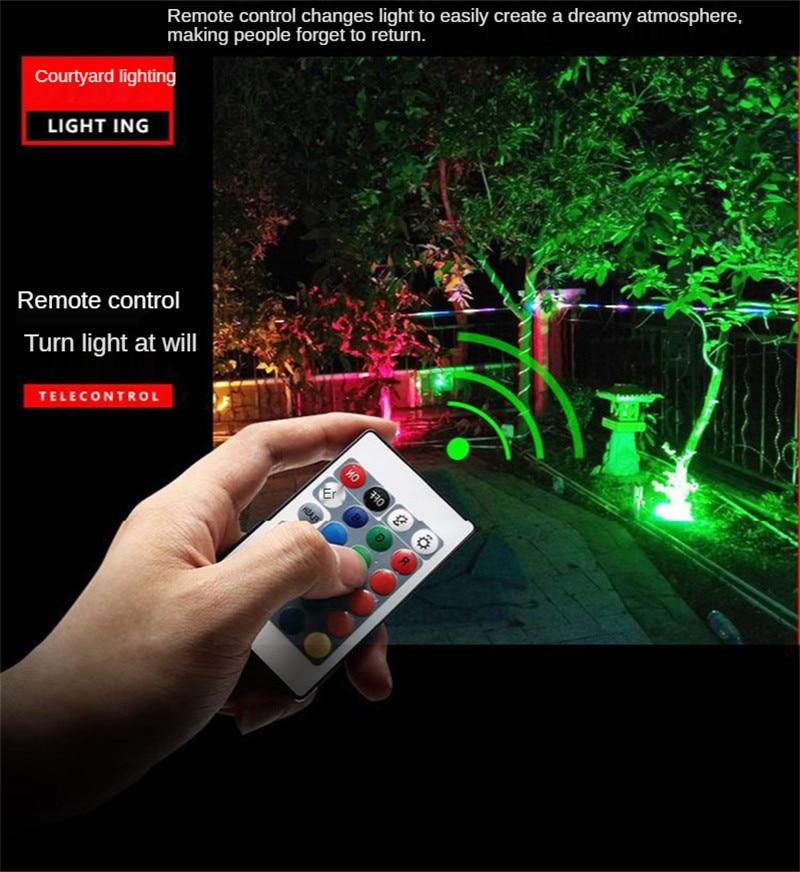Garden Spotlight RGB Colorful Floodlight Tree Light Courtyard Lighting Landscape Lighting Street Lamp Remote Control 100W 150W enlarge