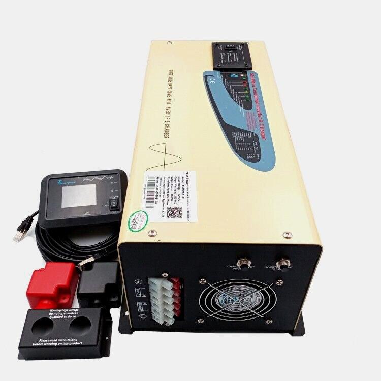 Home power inverter 3000w with charger dc 12v 24v 48v to ac 110v 220v free shipping