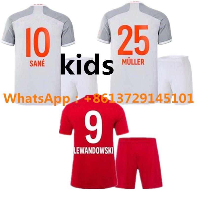 20 21 Bayern Munich kids home soccer away jersey LEWANDOWSKI 2020 21 Bayern Munich детские домашние рубашки foodball away