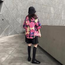 summer 2021 floral shirt for women short sleeve loose shirts 8201#