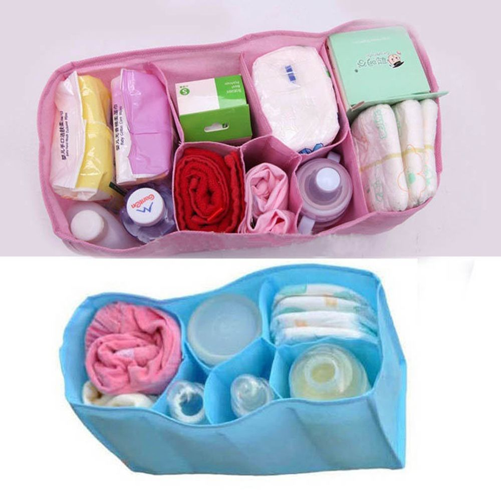 Portable Outdoor Travel Nappy Bags Baby Diaper Nappy Water Bottle Storage Inner Liner Changing Divider Organizer Bag