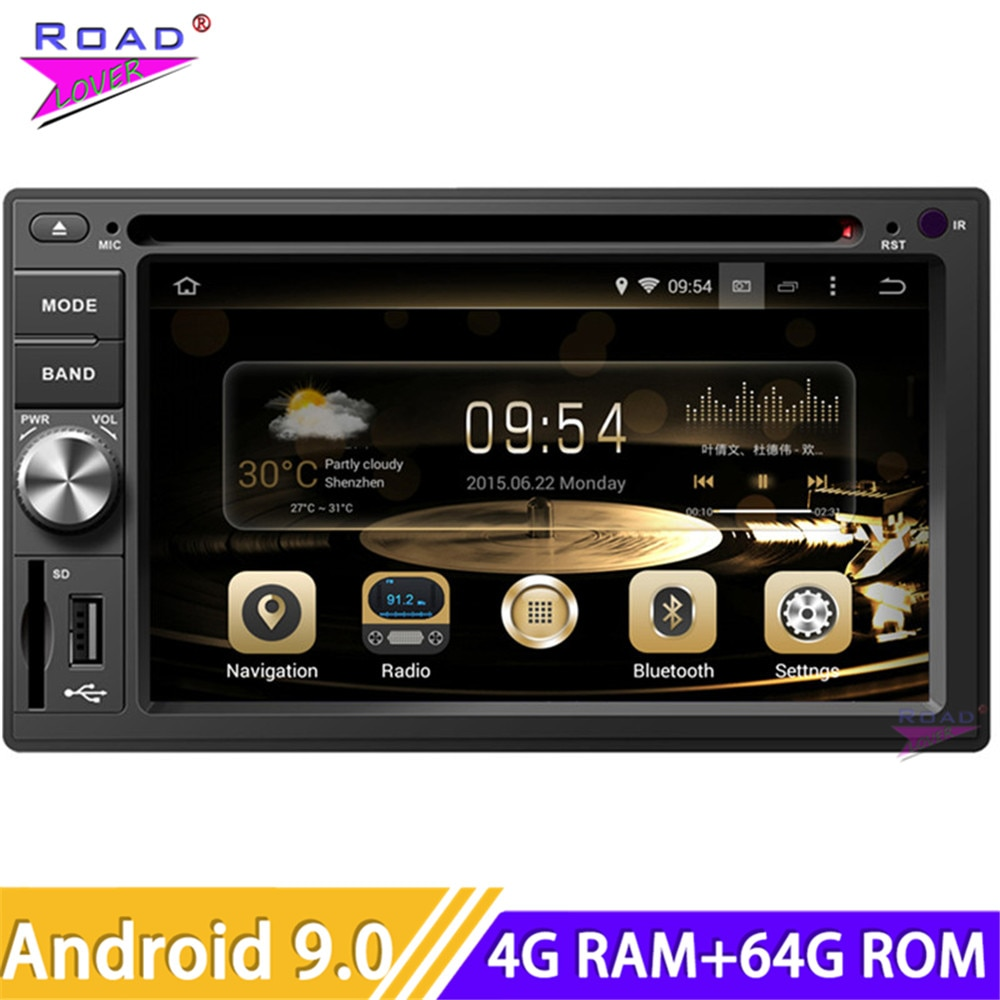 Roadlover Android 9,0 Car PC DVD automotrices reproductor de Audio para Estéreo universal navegación GPS Magnitol doble Din Octa Core Radio
