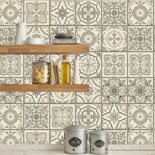 Ретро само-клейкие плитки и наклейки на стену анти масло Водонепроницаемая плитка для кухни Ванная комната украшение стены марокканское ис...