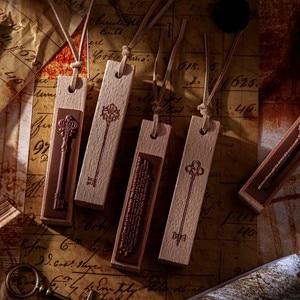 COO NOTE 8 Models Da Vinci Key Wooden Seal DIY Craft Rubber Stamps For Scrapbooking Stationery Standard
