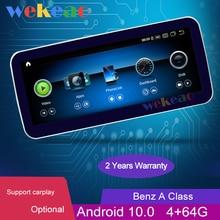 "Wekeao 10.25 ""1Din Android 10.0 Auto Dvd Multimedia Speler Voor Mercedes Benz A-klasse W176 Gla Cla Auto Radio auto Gps 4G 2013-2018"