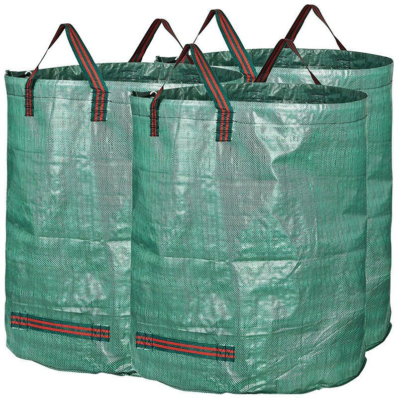 Paquete de 3 grandes bolsas de basura profesionales para jardín de 300L, bolsa de basura para jardín o piscina
