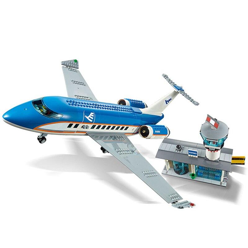 Lepining Serie de la ciudad 02043 Uds. Set de estación Terminal de aeropuerto de avión, bloques de construcción, juguetes para niños, regalos de navidad