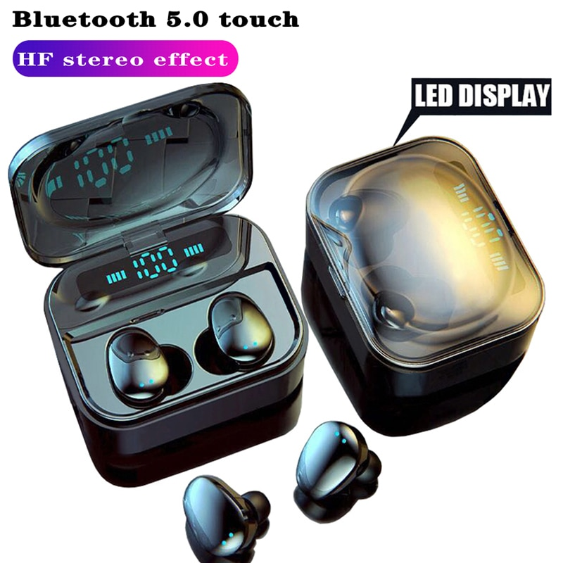 Auriculares estéreo con pantalla Led Auriculares inalámbricos con bluetooth, Auriculares deportivos con cancelación de ruido y resistentes al agua para xiaomi