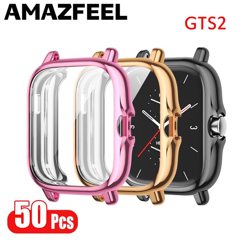 50 قطعة حالة ل Amazfit GTS 2 Smartwatch حامي شاشة السينما حالة TPU واقية الحالات ل Xiaomi Amazfit GTS 2 GTS2 الوفير