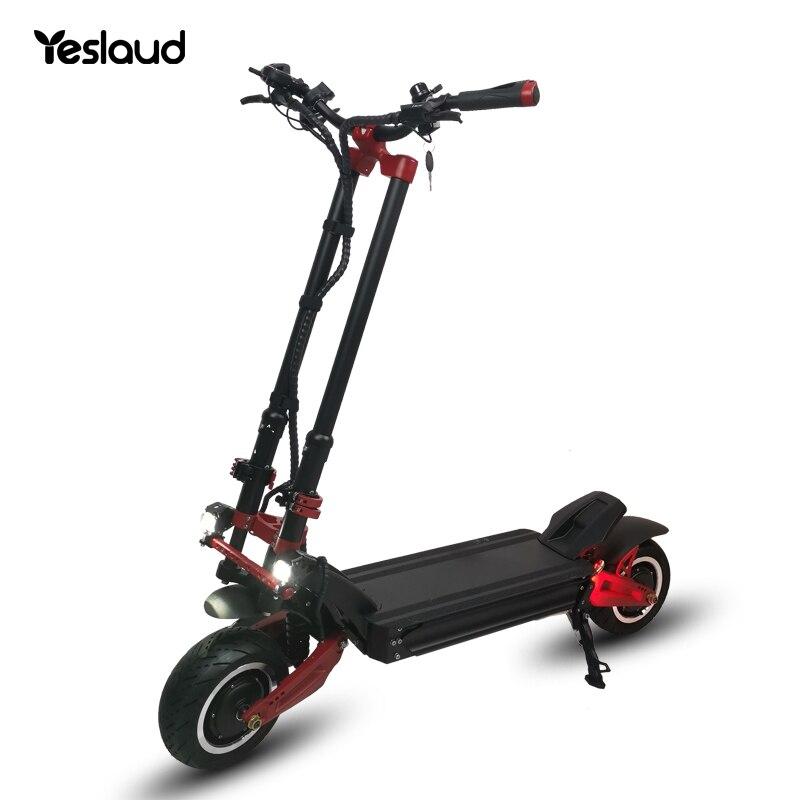 Мощный скутер с европейской вилкой 72 в, двухмоторный Yeslaud, уличный легальный скутер X11, складной электрический скутер для взрослых 2021
