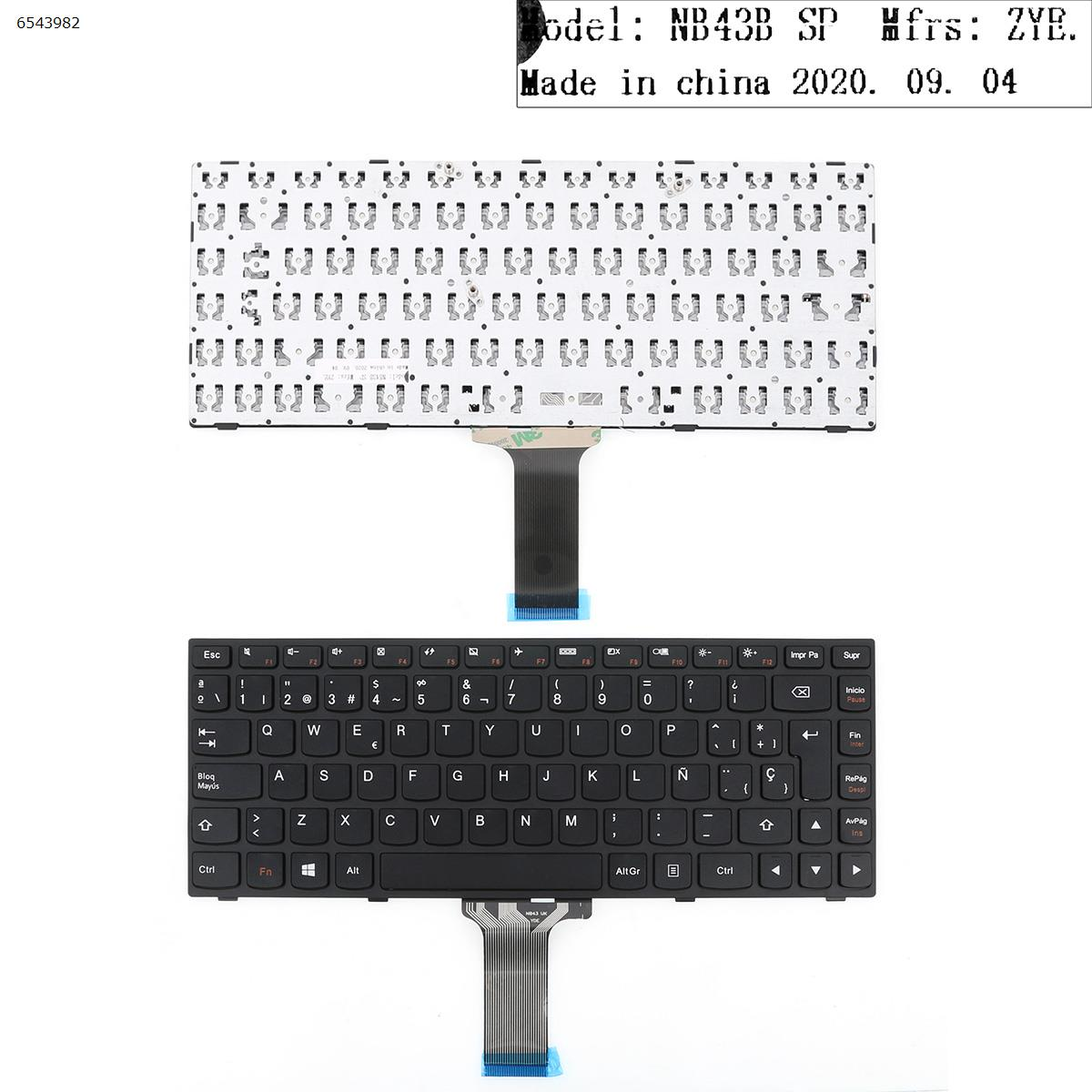 SP Spanish New Replacement Keyboard for Lenovo flex 2 14 flex 2 14d Laptop Black spanish laptop keyboard for lenovo b570 b590 z565 z560 z570 z575 v570a v570g b575 sp keyboard v570