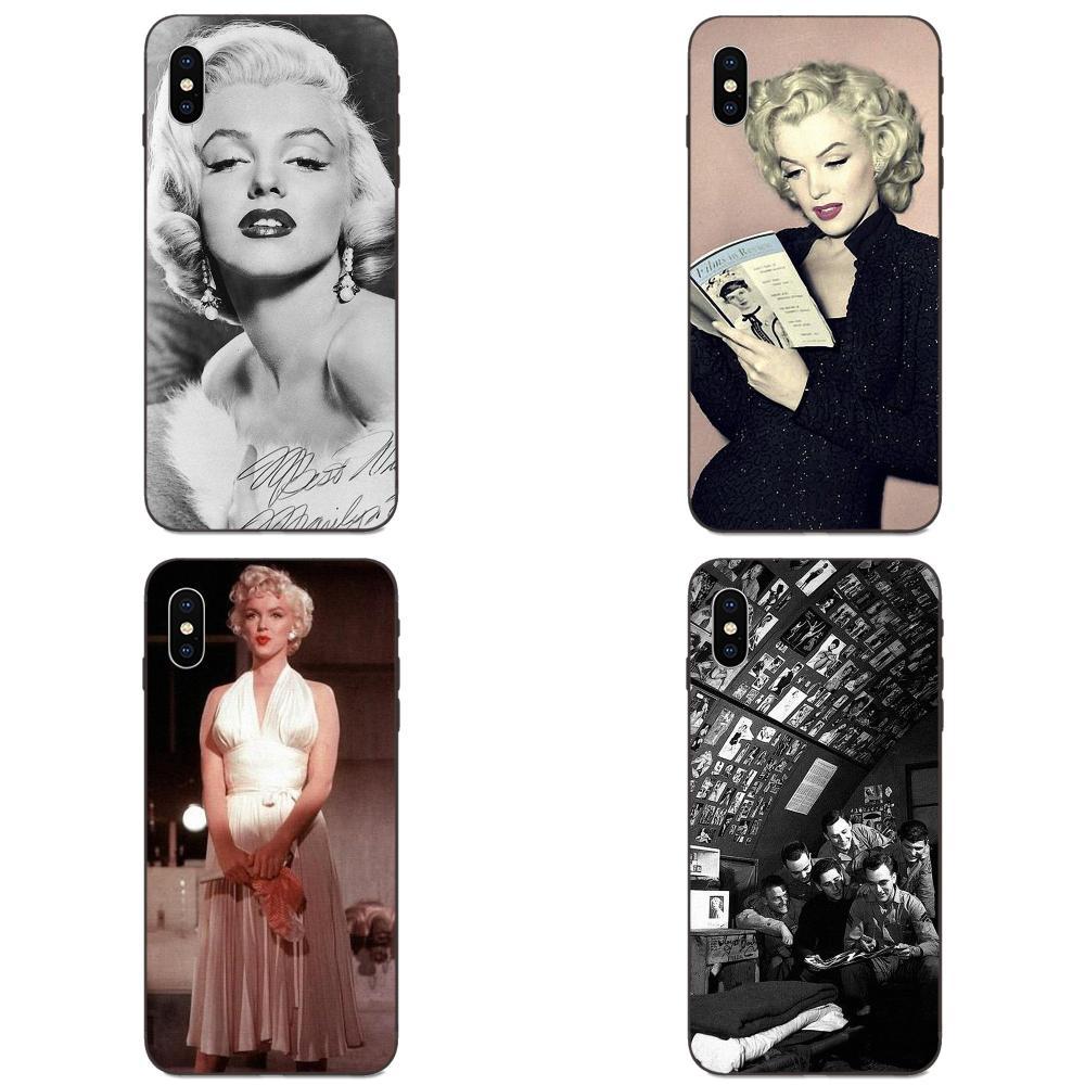 Marilyn monroe marca habitação para xiaomi redmi nota 3 3 s 4 4a 4x5 5a 6 6a 7 7a k20 plus pro s2 y2 y3 moda caso de telefone macio