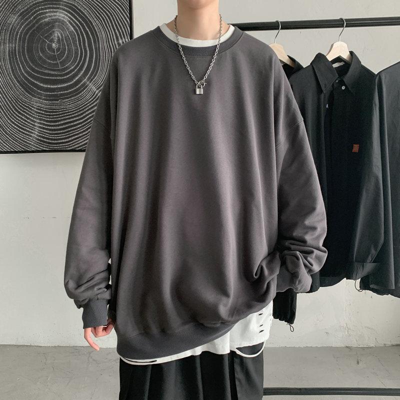 2021 Hoodies Sweatshirt Mens Black White Hip Hop Punk Pullover Streetwear Casual Fashion Clothes Mens Oversized Korean Harajuku