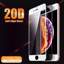 2021D Full Coverage Curved Edge Protective Glass For iphone 6 6S 7 8 Plus SE 2020 Screen Protector o