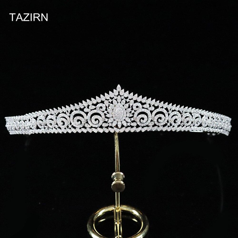 Tiaras De circonita para la Novia, accesorios para el cabello De boda,...