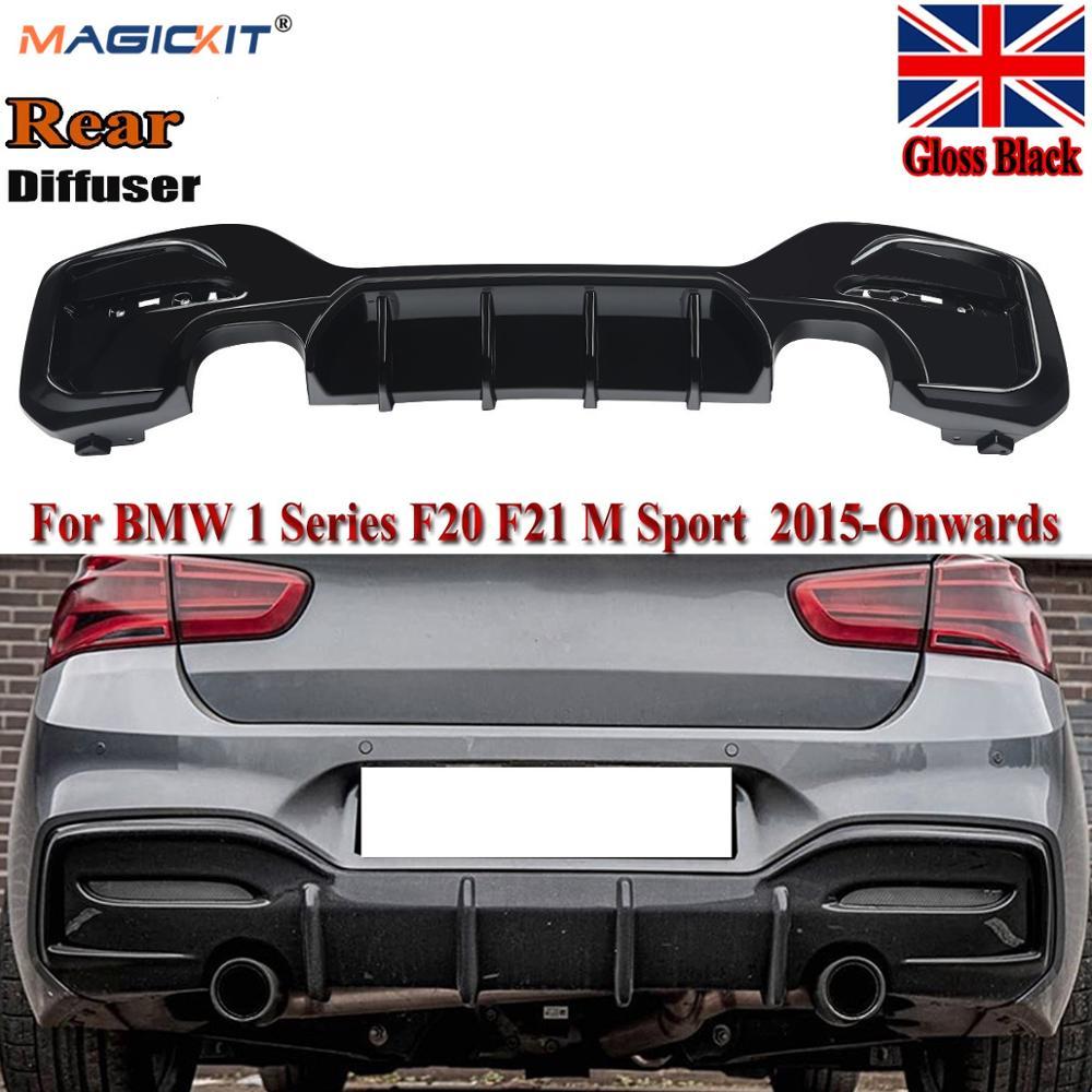 MagicKit pour BMW série 1 M Sport F20 F21 M135i M140i pare-chocs diffuseur arrière noir brillant
