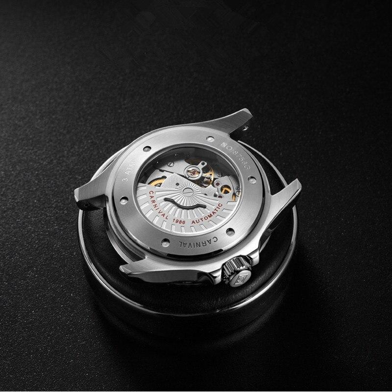 CARNIVAL Brand Fashion Watch Man Luxury Waterproof Luminous Calendar Military Automatic Mechanical Wristwatch Relogio Masculino enlarge