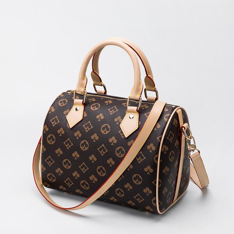 العلامة التجارية الفاخرة تصميم المرأة حقيبة يد بوسطن الكورية نمط الكتف Crossbody وسادة حقيبة السيدات المحمولة حقيبة تسوق كيس فام